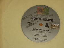 "JOHN WAITE *RARE PROMO 7"" 45 ' RESTLESS HEART ' 1984 VGC"