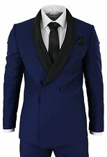 Men Blue Designer Wedding Grooms Tuxedo Dinner Casual Suit (Jacket+Pants)