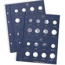 Leuchtturm Coin sheets VISTA for 2 EURO coin sets,Lighthouse,Münzblätter, 315537