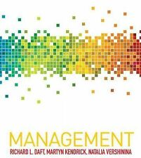 Management by Martyn Kendrick, Richard L. Daft, Natalia Vershinina...