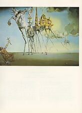 "1976 Vintage SALVADOR DALI ""TEMPTATION OF SAINT ANTHONY"" COLOR Print Lithograph"