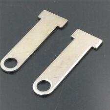 Silver Motorcycle Universal Helmet Strap D-Ring Steel Lock Extensions