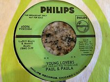 Paul and Paula Young Lovers / Ba Hey Be 45 Promo