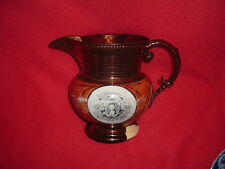 Historical Staffordshire Lafayette Crowned & Surrender Cornwallis Luster BIG Jug