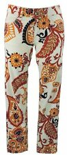 GUCCI Jeans 38 (i) 34 (D) NEW LEGGINGS BIANCO PATTERN MARRONE FLORAL PANTS come nuovo