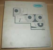 Tennant Floor Scrubber Parts Maintenance Service Manual- Models 1465, 1480, 1490