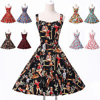 Countryside Floral Vintage Retro 50s 60s swing Pinup Housewife Dress Grace Karin
