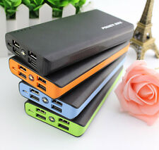 50000mAh Power Bank 4USB External Battery Charger For Mobile Phone Iphone Black