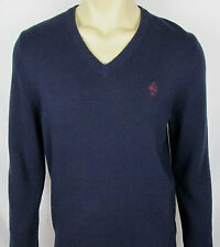 VTG - Mens Brooks Brothers 100% Lambswool sweater V-neck – Navy Blue – Size L