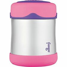 THERMOS FOOGO Vacuum Insulated Stainless Steel 10-Ounce Food Jar, Pink/Purple