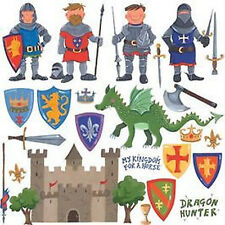 NEW 24 Dragon Castle Knights Wall Decals - Removable Vinyl Stickers / Appliques