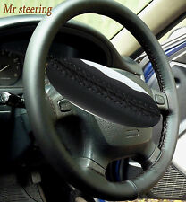 FITS TOYOTA TACOMA MK1 95-04 REAL BLACK TOP ITALIAN LEATHER STEERING WHEEL COVER