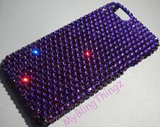 PURPLE Crystal Rhinestone Bling Back Case for iPhone 4 4S w/ Swarovski Elements