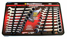 20pc GEARWRENCH RATCHETING COMBINATION RATCHET WRENCH SET SAE & METRIC 35720
