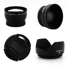 0.45x Wide Angle + 2x Tele + Cap + Hood for Nikon D3000 D3100 D5000 D5100 D8000