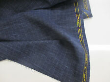 "Blue & Green Checked ""Super Lightweight Wool & Linen"", English Suiting Fabric."
