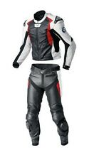 Customized BMW Motorcycle Black-N-Red Men's Leather Suit Jacket With Hump Pants