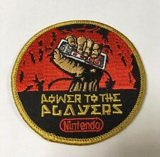 NINTENDO MARIO Power To The Player NES Embroided Patch Retro Gaming - RARE!