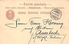 Ganzsache Schweiz St. Gallen Filiale 1886 gel. nach Auerbach i. Vogtland