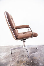 Mid Century Modern Chair Office Furniture Chromcraft Chrome Executive Knoll MCM