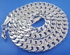 "Retro Unisex Silver 8mm Cool Choker Curb Chain Collar Necklace 22"" for Men"