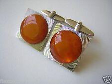 Silberfarbene Honig Karamell Natur Bernstein Manschetten 17,4 g Genuine Amber