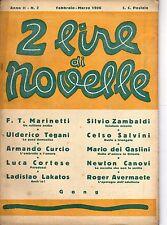 2 LIRE DI NOVELLE EDIZIONI LAZZARI ANNO 1926 NUMERO 2