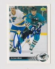 92/93 Upper Deck Jayson Moore San Jose Sharks Autographed Hockey Card