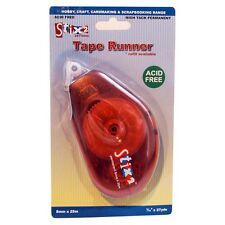 TAPE RUNNER 8MM x 25M PERMANENT GLUE STRIP DOUBLE SIDED REFILLABLE STIX2 S57269