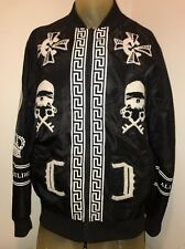 M Crooks and Castles Black Bomber Jacket Size MEDIUM Rare