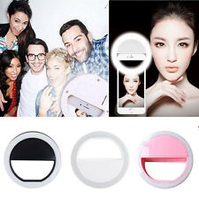Selfie LED Ring Fill Light Camera Photography for iPhone Android Phone Black