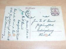 Postkarte : Glühstrumpf Fabrik Dr. W Schmid, Ludwigsburg 1921