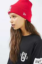 Topshop Red Badge Beanie Hat by New Era - One Size BNWT