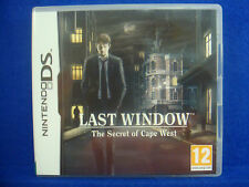 ds *LAST WINDOW The Secret of Cape West* Lite DSi 3DS Nintendo PAL