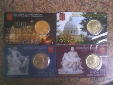 4  COIN CARD.....VATICANO....2010-2011-2012-2013....