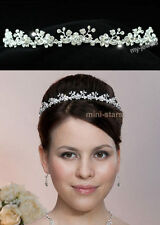 Bridal Wedding Prom Bridesmaid Headband Tiara use Swarovski Crystal T1132