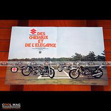 SUZUKI T 500 GT 185 250 380 & 550 1974 - Affiche PUB Moto #PM1203