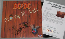 ACDC x 4 Hand Signed 'Fly On The Wall'  LP + PSA DNA COA *BUY AUTHENTIC*