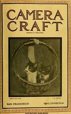 CAMERA CRAFT MAGAZINE 450 old antique issues photos 1900-1942 DVD
