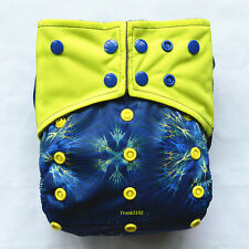 Fireworks AIO Reusable Washable Cloth Diaper Nappy Sewn in Charcoal Insert Night