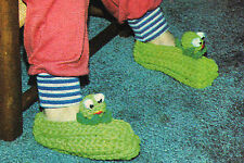 CUTE Child's Frog Slippers/Crochet Pattern Instructions