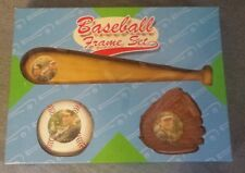 Baseball Themed Picture Photo Frame Set Baseball Glove Baseball Bat & Ball NEW!
