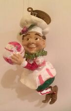 Katherine's Collection Christmas Ornament Peppermint Candy Elf Baker's Hat 3""