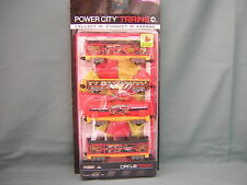 POWER CITY TRAINS 4 PACK- CIRCUS FREIGHT CARS WITH CIRCUS TENT