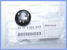 BMW Genuine M style 5 Speed Shift Knob Emblem E30 E34 E36 E39 NEW 25111221613
