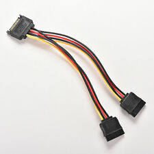 15 Pin SATA Male to SATA Female 1 to 2 Y Splitter Power Cable EV