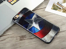 For iPhone 6 6S Marvel DC Retro Classic Captain America USA Case Cover