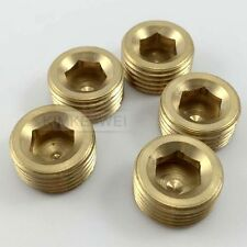 "5pcs 1/2""NPT Brass Internal Thread Socket Pipe Plug"