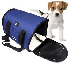 Azul 42cm de longitud para Mascota Perro Gato Cachorro perrera Portátil de Viaje Portador Bolso De Mano