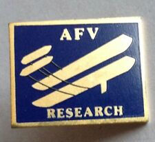 AFV Research Classic Flight Areoplane Pin Badge Rare Vintage (D9)